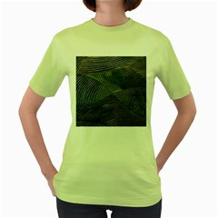 Textures Sea Blue Water Ocean Women s Green T-Shirt