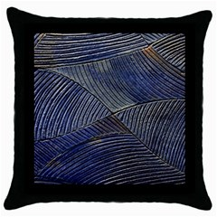 Textures Sea Blue Water Ocean Throw Pillow Case (black)