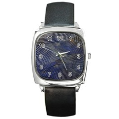 Textures Sea Blue Water Ocean Square Metal Watch