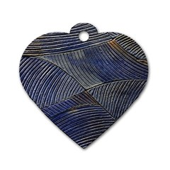 Textures Sea Blue Water Ocean Dog Tag Heart (One Side)