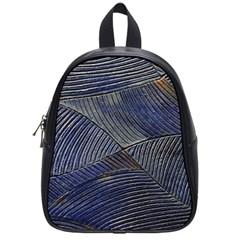Textures Sea Blue Water Ocean School Bags (small)
