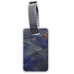 Textures Sea Blue Water Ocean Luggage Tags (one Side)