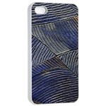 Textures Sea Blue Water Ocean Apple iPhone 4/4s Seamless Case (White) Front