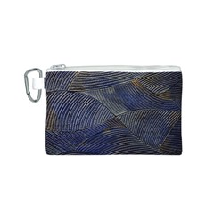 Textures Sea Blue Water Ocean Canvas Cosmetic Bag (s)