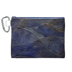 Textures Sea Blue Water Ocean Canvas Cosmetic Bag (xl)
