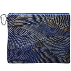 Textures Sea Blue Water Ocean Canvas Cosmetic Bag (xxxl)