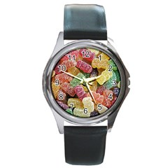 Jelly Beans Candy Sour Sweet Round Metal Watch
