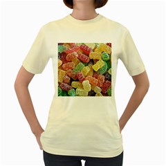 Jelly Beans Candy Sour Sweet Women s Yellow T Shirt