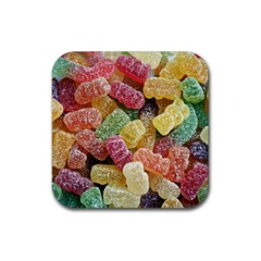 Jelly Beans Candy Sour Sweet Rubber Coaster (Square)