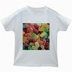 Jelly Beans Candy Sour Sweet Kids White T Shirts