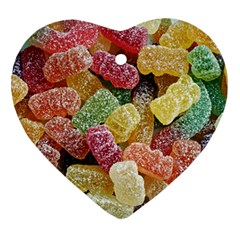 Jelly Beans Candy Sour Sweet Heart Ornament (Two Sides)