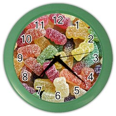 Jelly Beans Candy Sour Sweet Color Wall Clocks