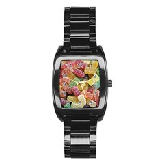 Jelly Beans Candy Sour Sweet Stainless Steel Barrel Watch