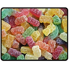 Jelly Beans Candy Sour Sweet Double Sided Fleece Blanket (medium)