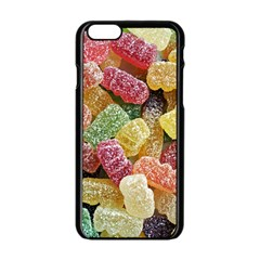 Jelly Beans Candy Sour Sweet Apple Iphone 6/6s Black Enamel Case