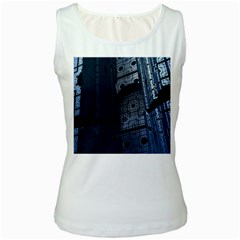 Graphic Design Background Women s White Tank Top