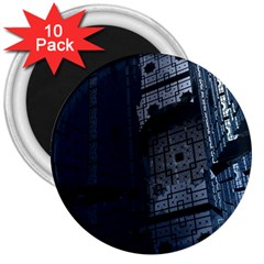 Graphic Design Background 3  Magnets (10 Pack)
