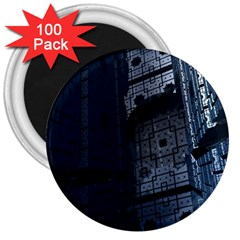 Graphic Design Background 3  Magnets (100 Pack)