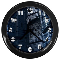Graphic Design Background Wall Clocks (black)