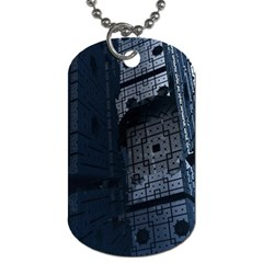Graphic Design Background Dog Tag (one Side)