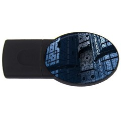Graphic Design Background Usb Flash Drive Oval (2 Gb)