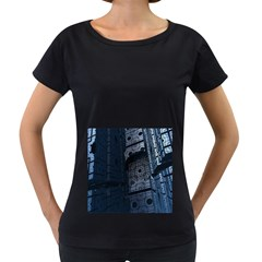 Graphic Design Background Women s Loose-Fit T-Shirt (Black)