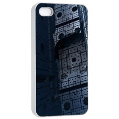 Graphic Design Background Apple Iphone 4/4s Seamless Case (white)