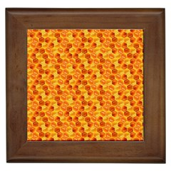 Honeycomb Pattern Honey Background Framed Tiles