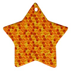 Honeycomb Pattern Honey Background Ornament (star)