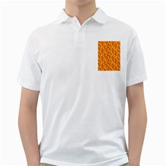 Honeycomb Pattern Honey Background Golf Shirts
