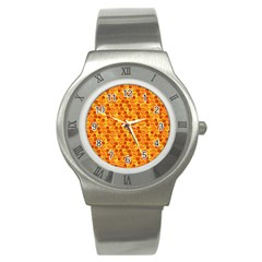 Honeycomb Pattern Honey Background Stainless Steel Watch