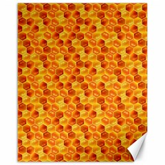 Honeycomb Pattern Honey Background Canvas 16  X 20