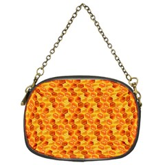 Honeycomb Pattern Honey Background Chain Purses (One Side)