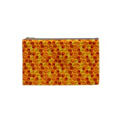 Honeycomb Pattern Honey Background Cosmetic Bag (Small)
