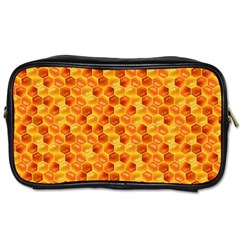 Honeycomb Pattern Honey Background Toiletries Bags 2 Side