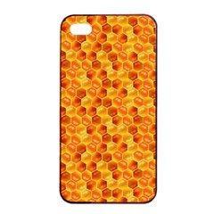 Honeycomb Pattern Honey Background Apple Iphone 4/4s Seamless Case (black)
