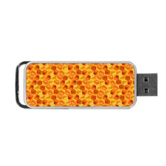 Honeycomb Pattern Honey Background Portable Usb Flash (two Sides)