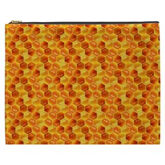Honeycomb Pattern Honey Background Cosmetic Bag (XXXL)