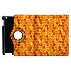 Honeycomb Pattern Honey Background Apple iPad 2 Flip 360 Case