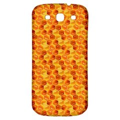 Honeycomb Pattern Honey Background Samsung Galaxy S3 S Iii Classic Hardshell Back Case