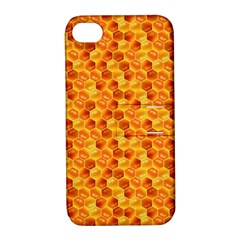 Honeycomb Pattern Honey Background Apple Iphone 4/4s Hardshell Case With Stand