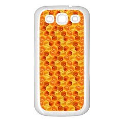 Honeycomb Pattern Honey Background Samsung Galaxy S3 Back Case (white)
