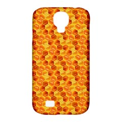 Honeycomb Pattern Honey Background Samsung Galaxy S4 Classic Hardshell Case (pc+silicone)