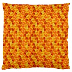 Honeycomb Pattern Honey Background Standard Flano Cushion Case (two Sides)