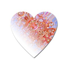 Effect Isolated Graphic Heart Magnet