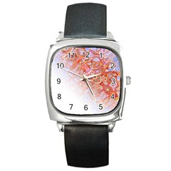 Effect Isolated Graphic Square Metal Watch