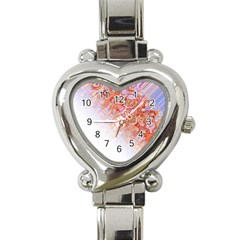Effect Isolated Graphic Heart Italian Charm Watch