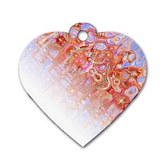 Effect Isolated Graphic Dog Tag Heart (One Side)