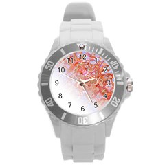 Effect Isolated Graphic Round Plastic Sport Watch (l)