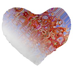 Effect Isolated Graphic Large 19  Premium Heart Shape Cushions